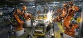 Robots building cars